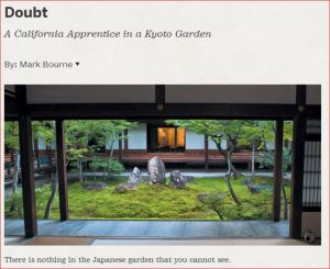 Blog Doubt by Mark Bourne Kyoto Pacific Horticultural Magazine