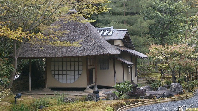 Ihou-an, the tea house with the famous round window