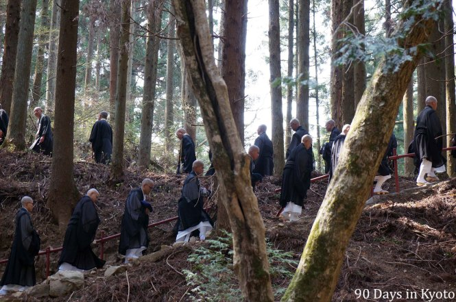 Zen monks of Kennin-ji on Mt. Hiei