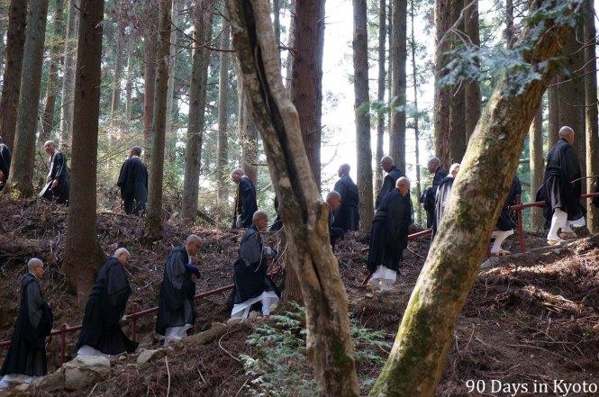 Zen monks of Kennin-ji on Mt. Hiei