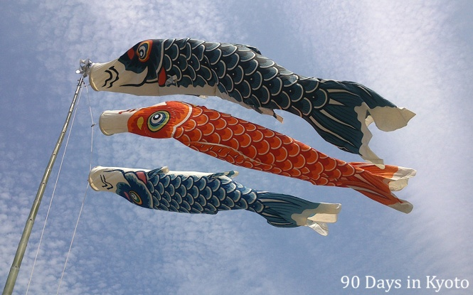 Koi-Nobori - Flying carp all over Japan for the Childrens Day on May 5th