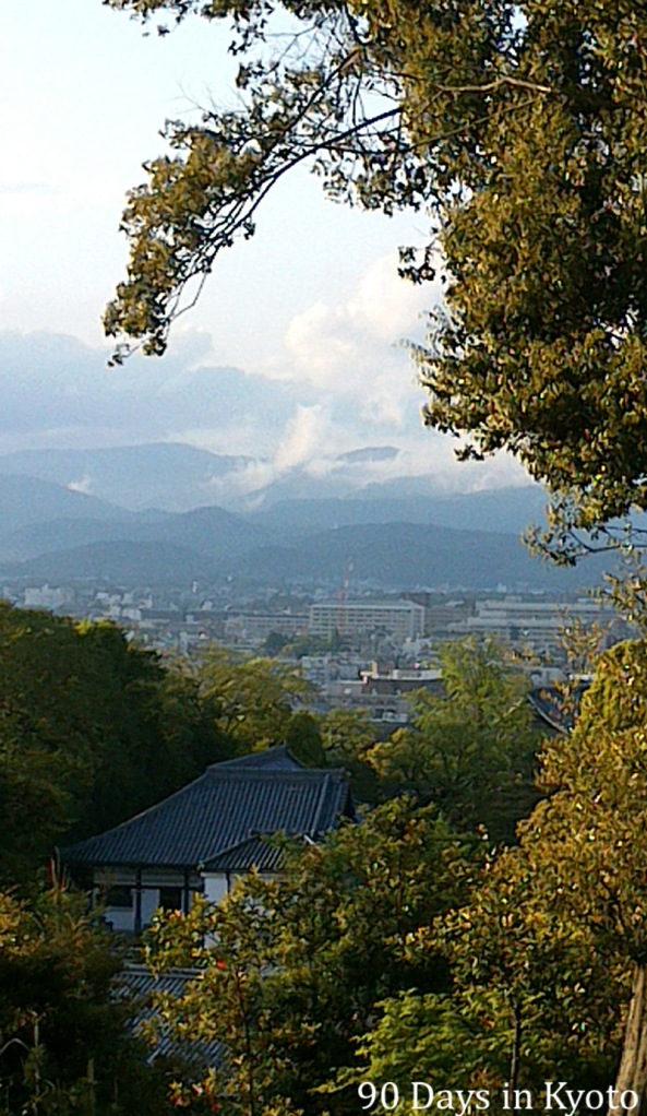 The Kitayama mountains in Kyoto