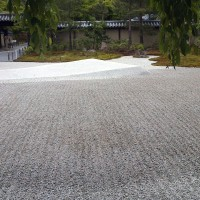 Guess who was allowed to draw the gravel patterns in the Hojo garden today?
