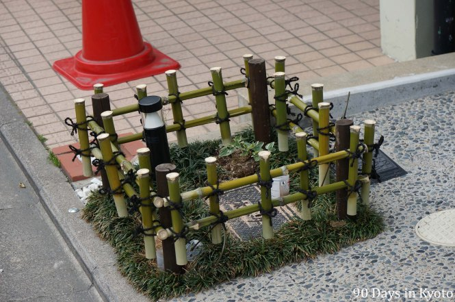 Kawaii Yotsumegaki bamboo fence in Kyoto (可愛い四ツ目垣)