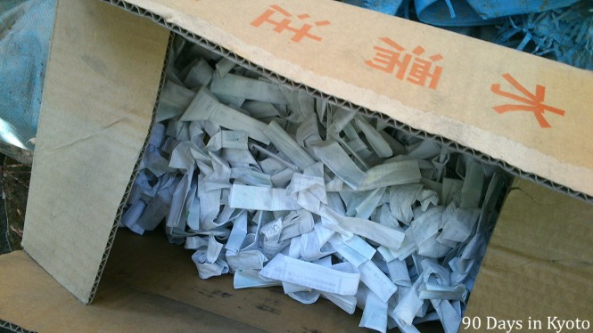 Day 39 - Unwanted fortune Omikuji in Japan