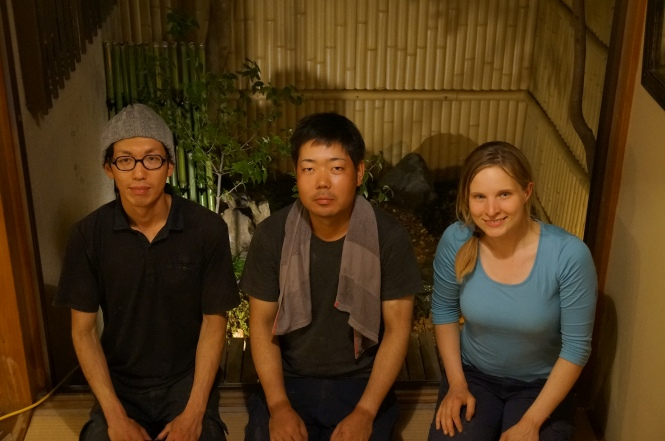 From left to right: Tatsuhiko Kobayashi (小林達彦), Tatsuomi Ikeda (池田辰臣) and Jenny Feuerpeil (伊恵弐 フォイヤーパイル)